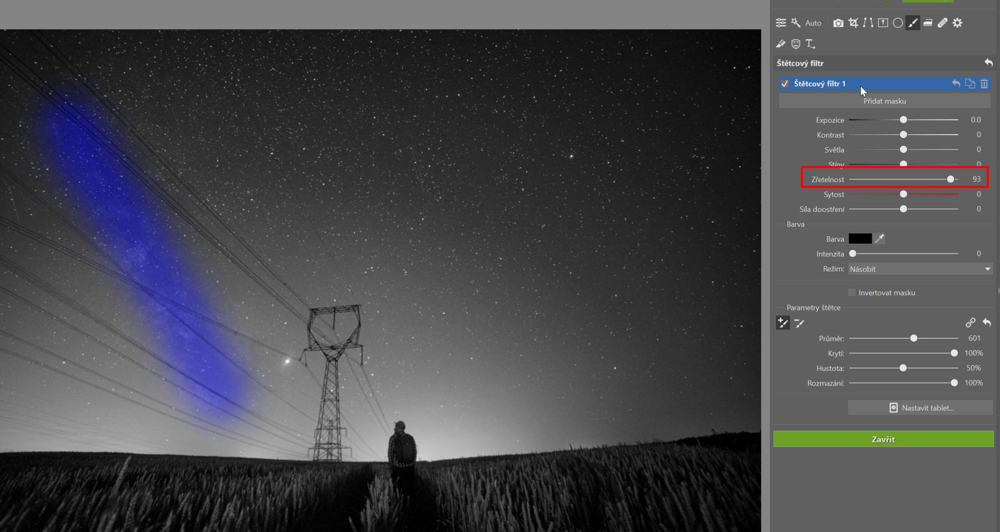 Fotky noční oblohy: mléčná dráha