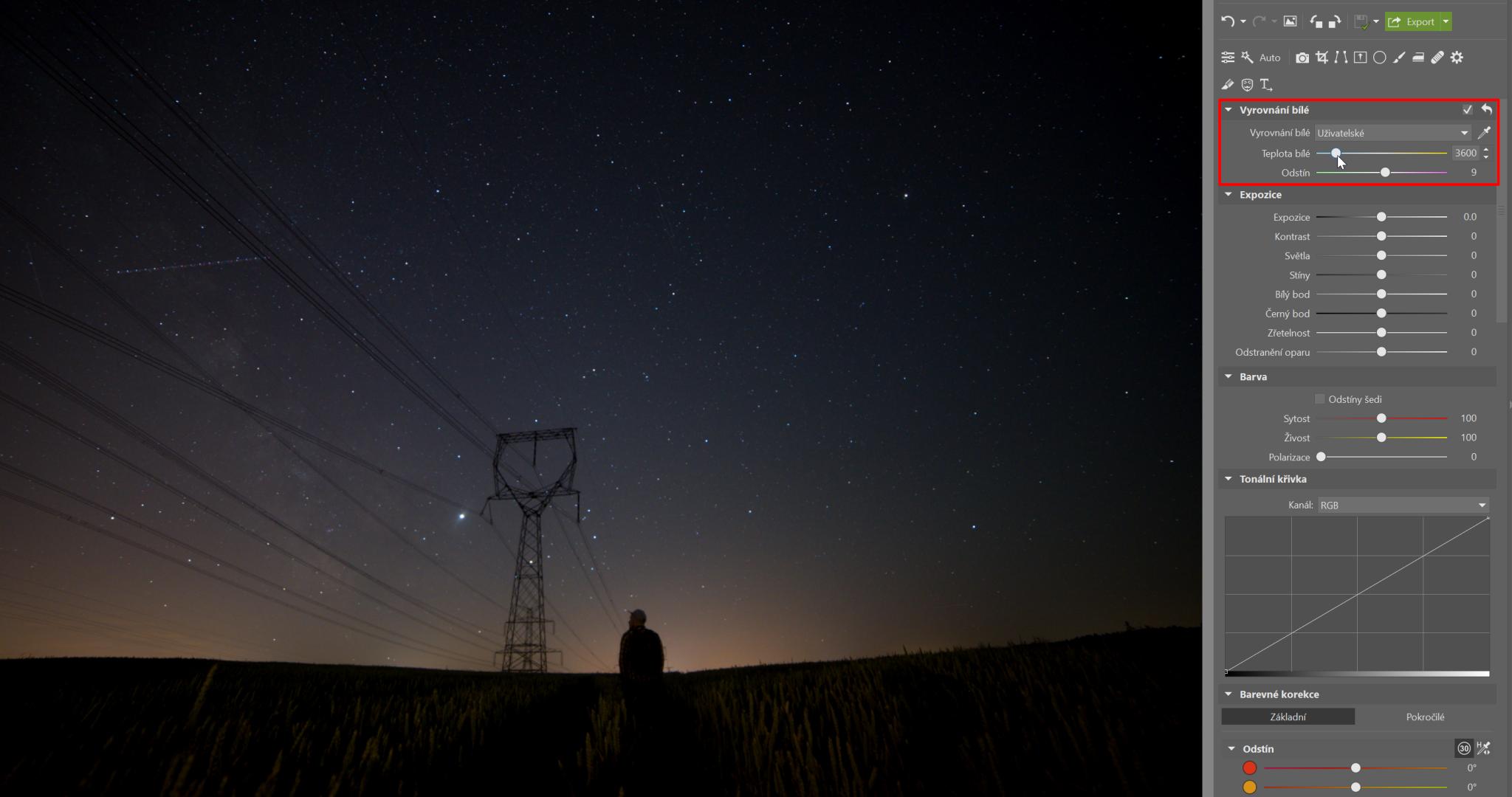 Fotky noční oblohy: 7 úprav (+ 1 navíc), které jim dodají šmrnc
