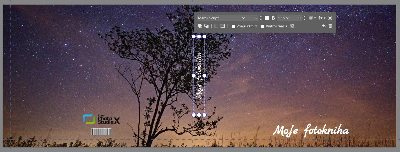 Vylepšujeme modul Vytvořit: ještě snadnější tvorba fotopředmětů - vložení textu na hřbet knihy