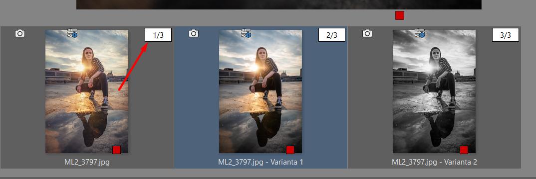 Varianty: vytvořte různé verze úprav jedné fotky - sloučení a rozložení variant jedné fotky