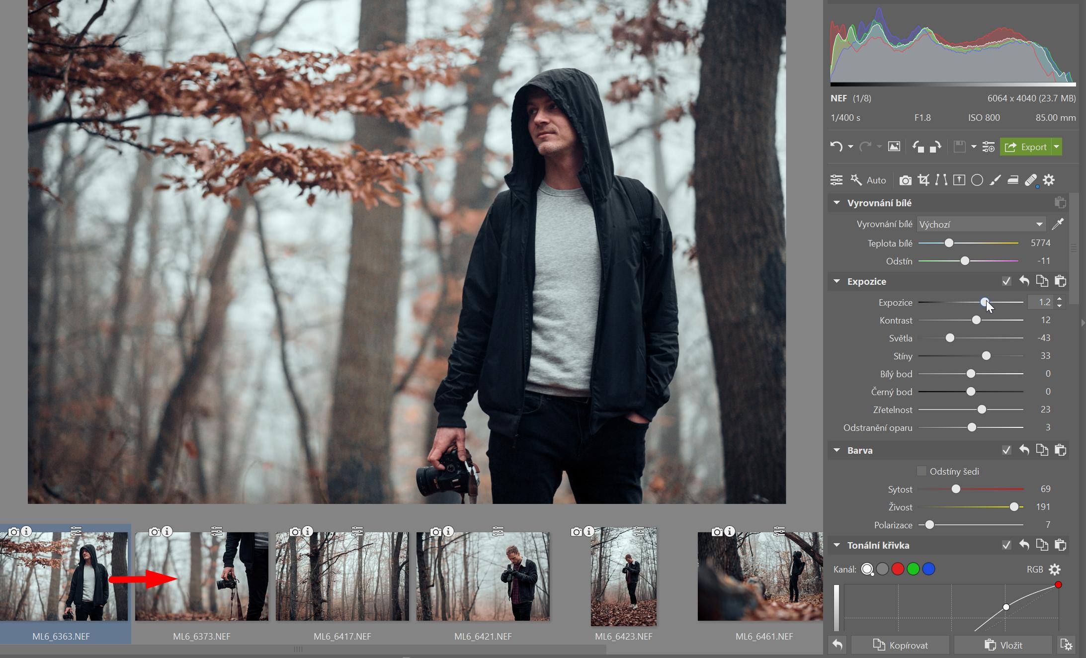 Ušetřete čas při úpravách fotek. Pomůže vám kopírování úprav
