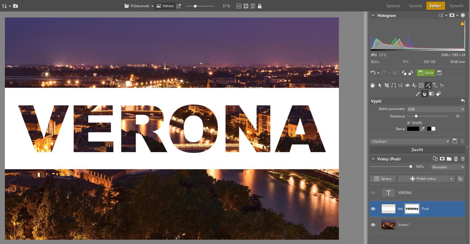 Jak do fotky vložit průhledný text? Pomůže Editor a vrstvy