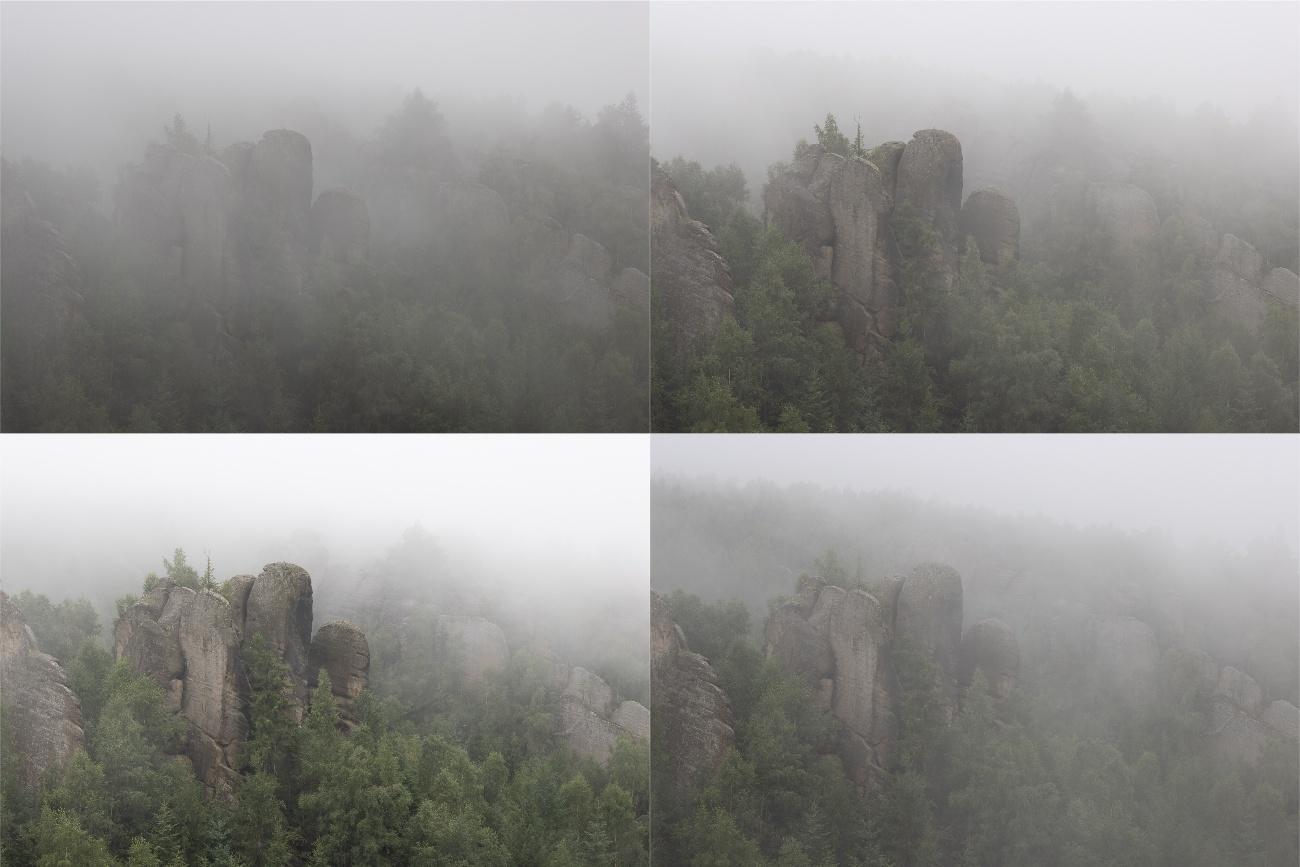 Příběh fotky: Krajina se skalami v mlze